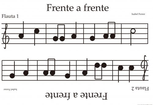 partitura dos lados china